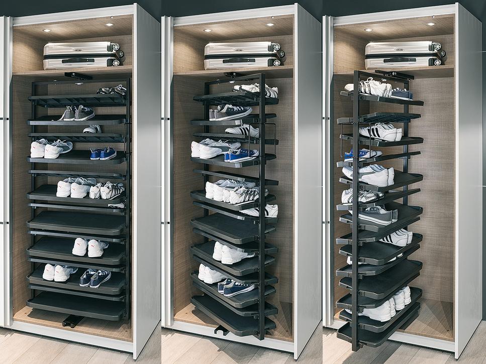 Поворотная колонна для обуви