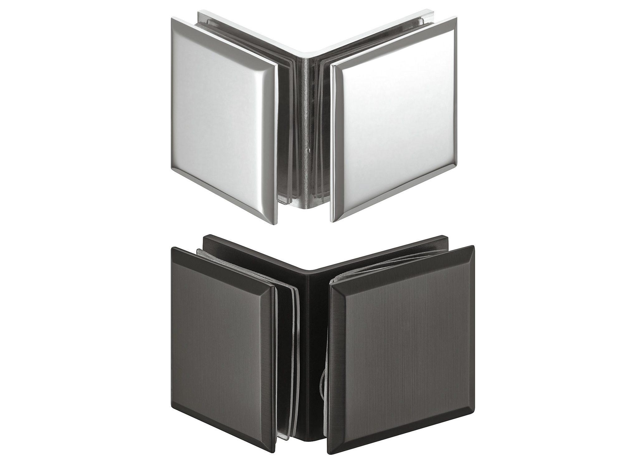 Держатель стекла, для соединения двух стекол 90°