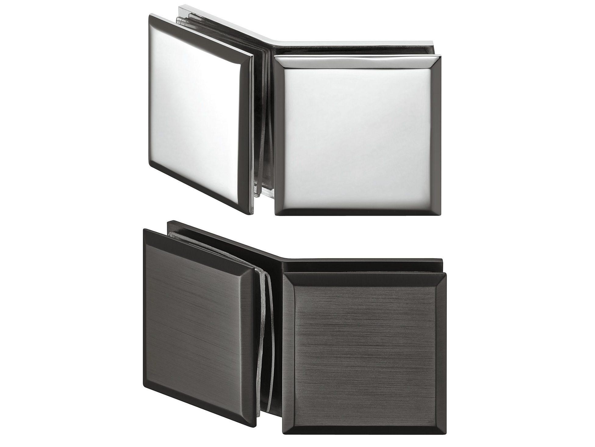 Держатель стекла, для соединения двух стекол 135°